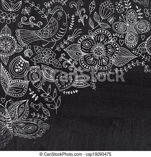 Tableau Noir Craie Decoratif