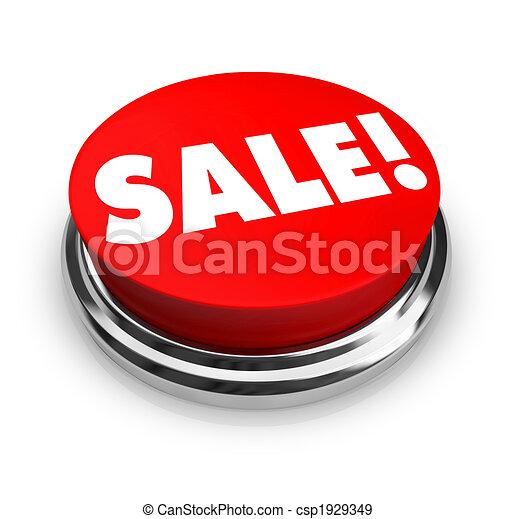 Sale - Red Button - csp1929349