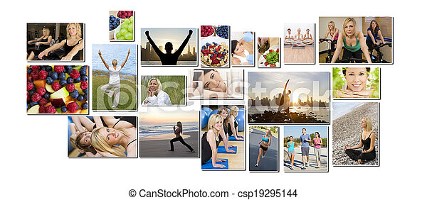 Healthy Men Women People Lifestyle & Exercise - csp19295144