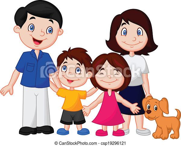Ilustraciones de Vectores de feliz, familia, caricatura - vector ...
