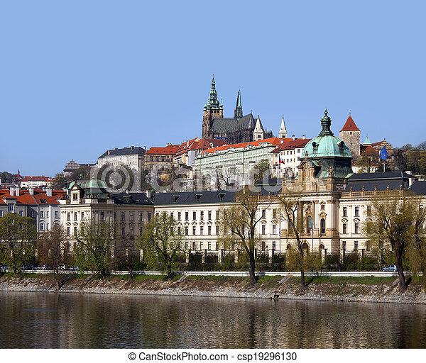 Prague - Czech Government and Prague Castle - csp19296130