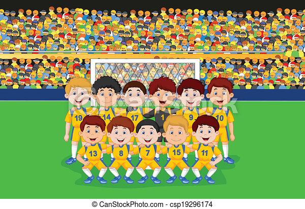 Illustrations vectoris es de football dessin anim - Dessin equipe de foot ...