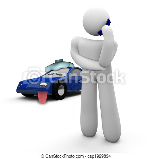 Broken Down Car - Call for Help - csp1929834
