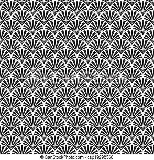 Seamless Art Deco Background - csp19298566