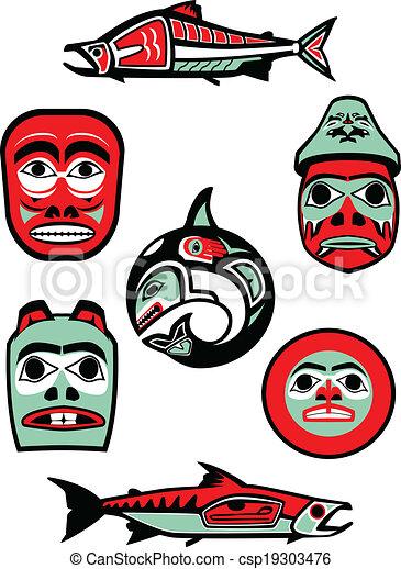 Pacific Northwest Native Designs - csp19303476