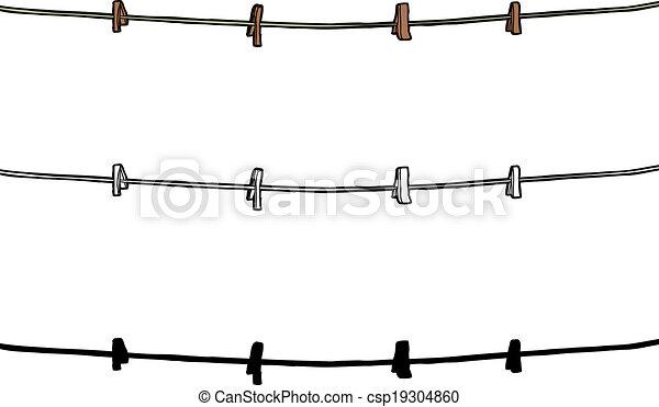 Clip Art Clothesline Rope