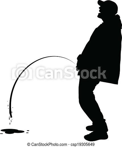 Peeing Man - csp19305649