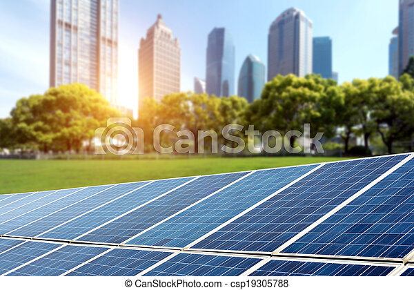 Solar panels cities - csp19305788