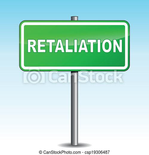 vector retaliation signpost royalty free vector clip art