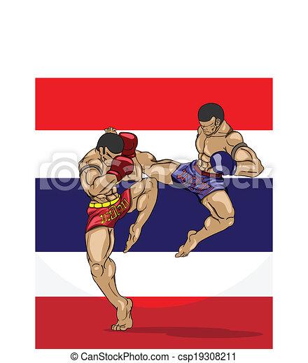 Muay thai. Martial art - csp19308211