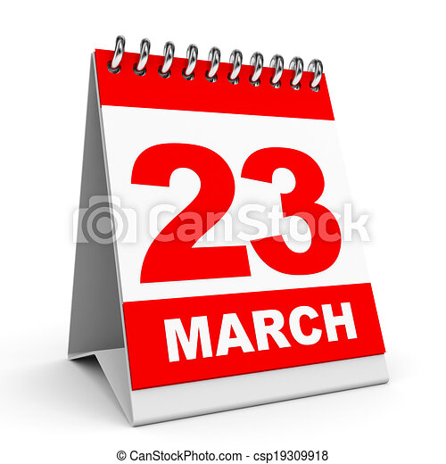 . - Calendar on white background. 23... csp19309918 - Search Clip Art ...