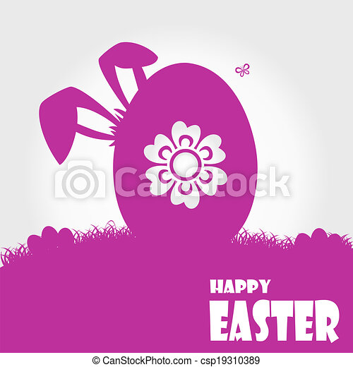Happy easter cards illustration - csp19310389