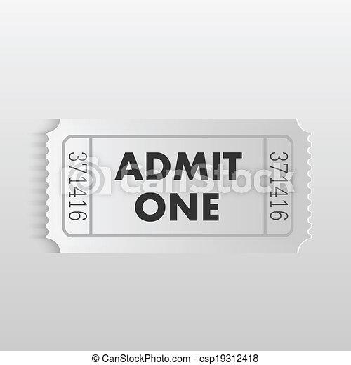 Admit One Ticket - csp19312418