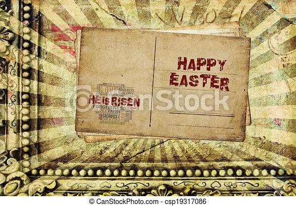 Happy Easter He is Risen - csp19317086