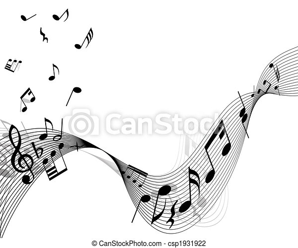 musical stuff background - csp1931922