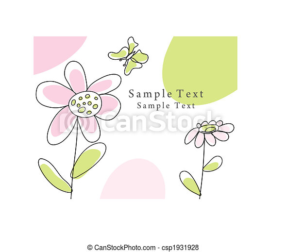 sketch greeting card - csp1931928