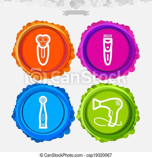 Clip art de vectores de utensilios ba o cuarto de ba o for Utensilios cuarto de bano