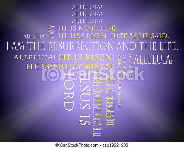 復活節, 手稿 - csp19321903