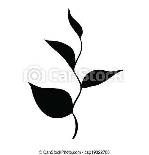 Silhouette Branch of Tea