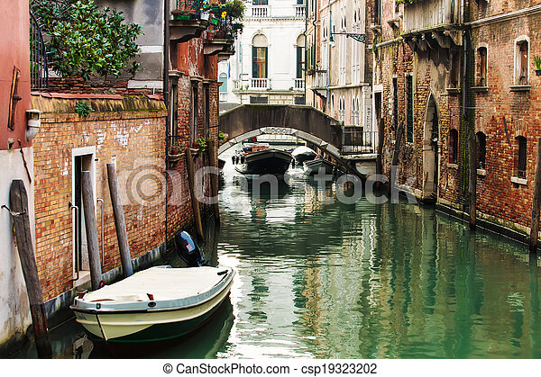 Deatil old architecture in Venice  - csp19323202