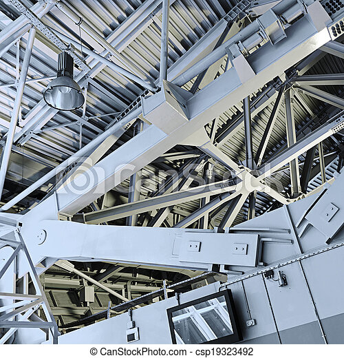 Abstract Metal construction.