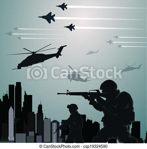 Military invasion - csp19324590
