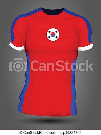 20bdd3594 south korea soccer jersey can stock photo csp19324708