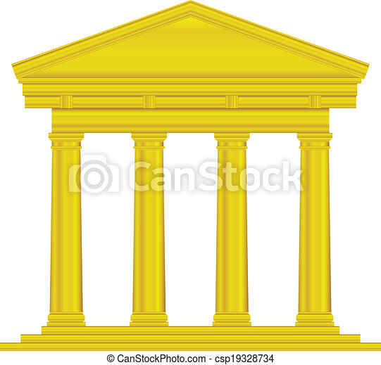 Gold tuscan temple - csp19328734
