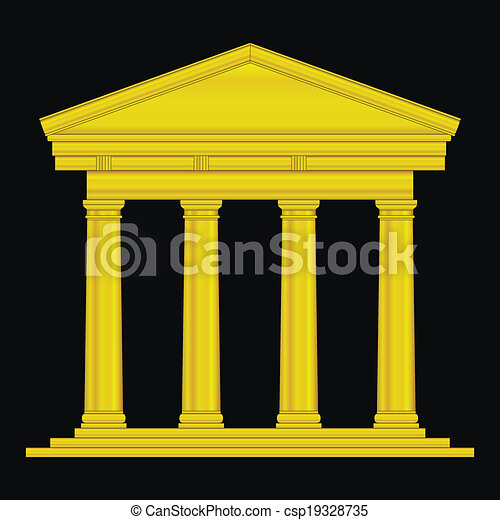 Gold tuscan temple - csp19328735