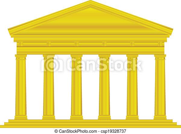 Gold tuscan temple - csp19328737