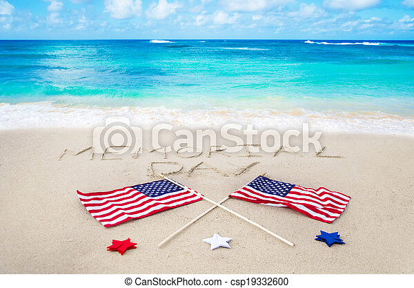 Memorial day background - csp19332600