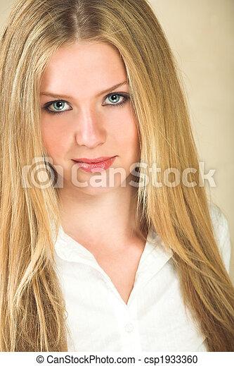 mulher, jovem, adulto - csp1933360