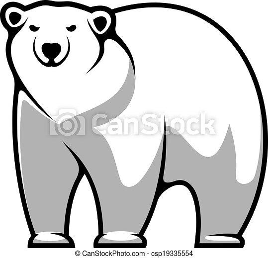 Vecteur clipart de dessin anim polaire ours grand gris et blanc dessin csp19335554 - Ours polaire dessin ...