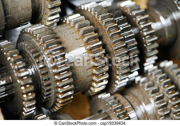 automobile engine or transmission gear box - csp19339434