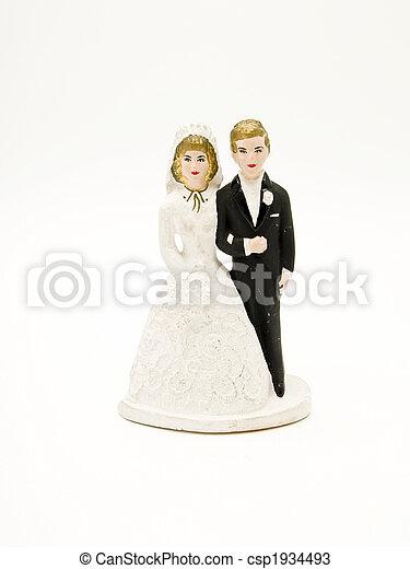 Stock Photo wedding cake figurines wedding cake figurines csp1934493