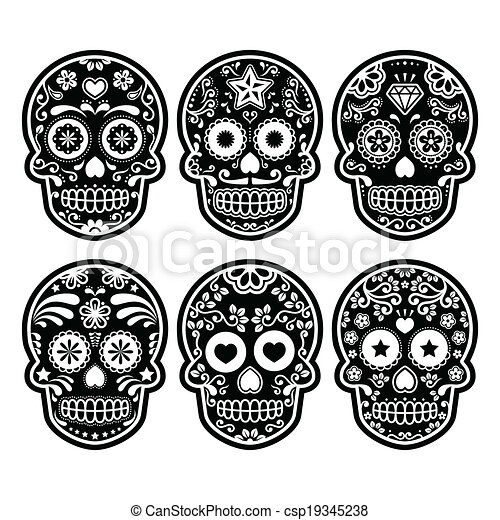 Mexican Decorated Skulls Mexican Sugar Skull