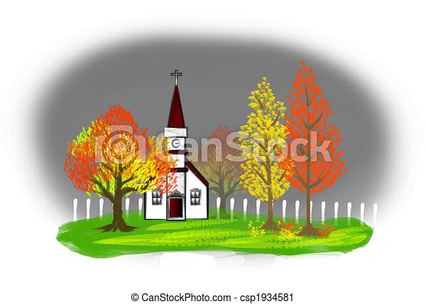 Autumn Illustration - csp1934581