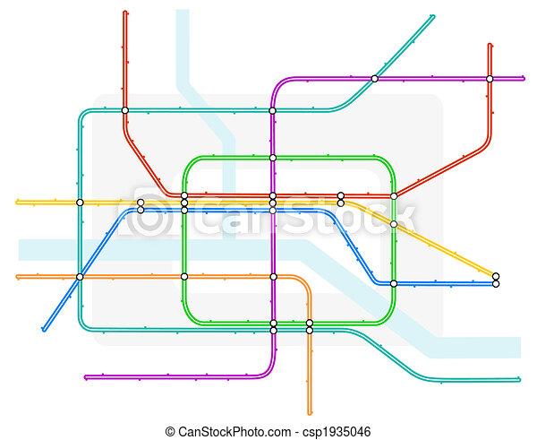 Underground map - csp1935046