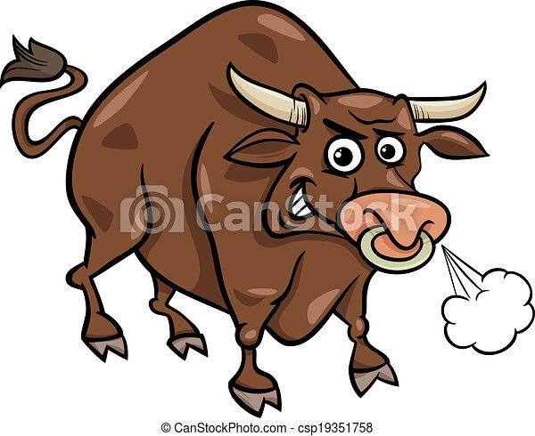 Clipart vettoriali di fattoria toro cartone animato - Animale cartone animato immagini gratis ...