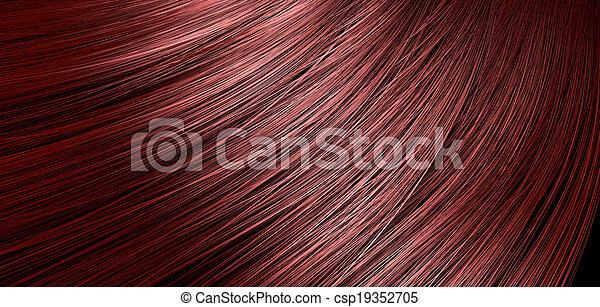 Red Hair Blowing Closeup