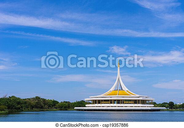 Park in Bangkok. - csp19357886