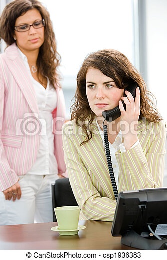 Business woman calling on phone - csp1936383