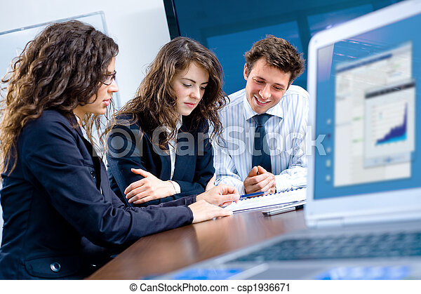 reunião, negócio, escritório - csp1936671