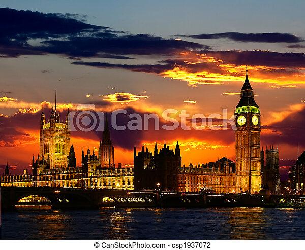 edificio, grande, parlamento, ben, - - csp1937072