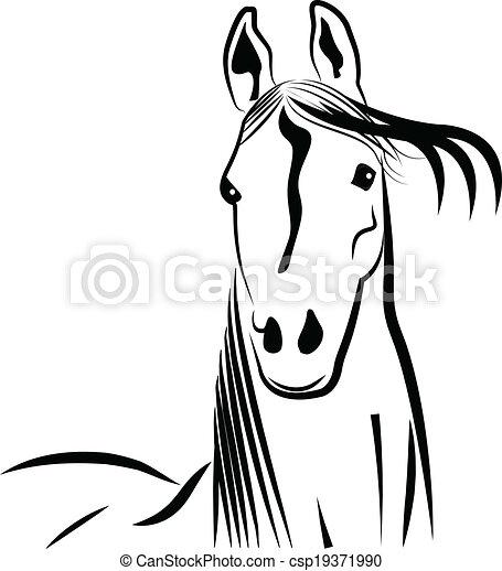 Vettori eps di stilizzato ritratto cavallo testa for Disegno cavallo stilizzato