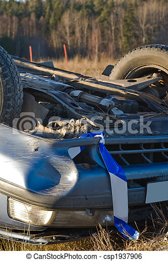 smashed car - csp1937906