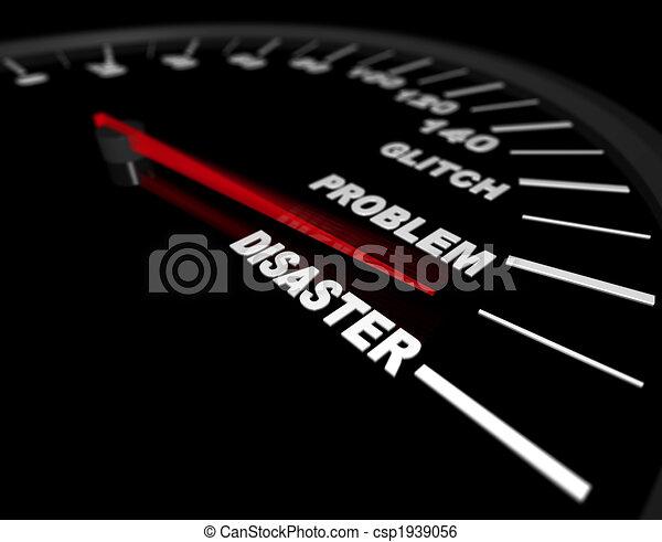 Racing Toward Disaster - csp1939056