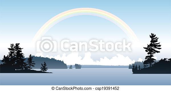 Rainbow Lake - csp19391452