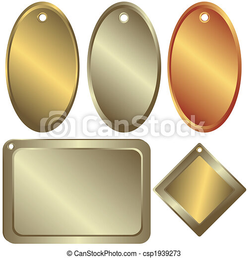 Gold, silver and bronze  counters  (vector) - csp1939273