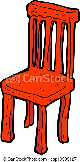 Vecteur dessin anim vieux bois chaise banque d - Dessin de chaise en perspective ...